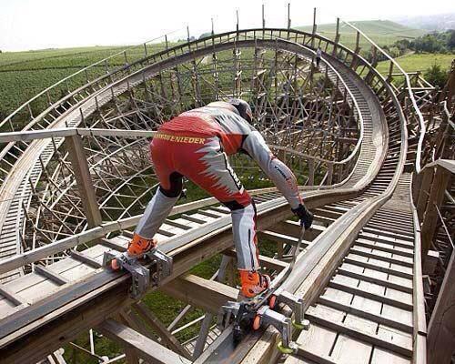 Roller coaster terekstrim. Brani gak naik kaya gini? Tekan WOW jika kamu brani/Takut