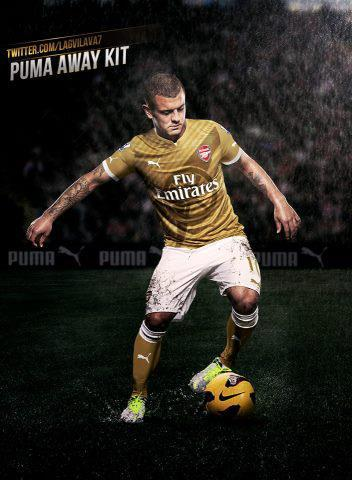 Jersey Away Arsenal Musim Terbaru... suka WOW!