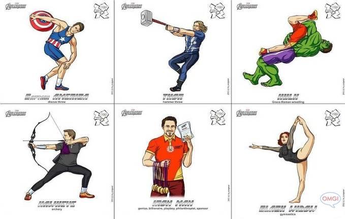 the avengers ikut olimpiade