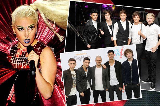 Pilih mana,Lady Gaga,One Direction,atau The Wanted?WOW-nya ya