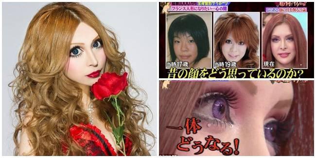 Kisah Nyata Wanita Jepang Ini Rela Habiskan 1 Miliar Demi Mirip Boneka Prancis WOW nya donk.... :D