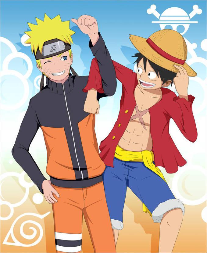 Anime Naruto dan One Piece memiliki beberapa persamaan,berikut persamaan-nya: 1.Naruto dan Luffy -Kuat -Pantang Menyerah -Ceroboh -Rakus 2.Neji dan Ace -Mati di Medan Perang -Mati karena melin