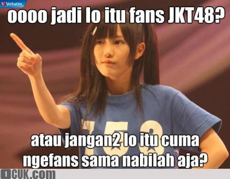 Hayooo Yg Fans Dari Jkt 48 Comment yaa.. Yg NgeFans sama Nabilah WOWnyaa yaaa..