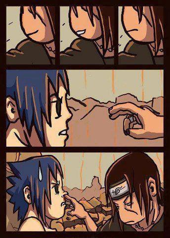 hahaha... koplak... masih ingat pertarungan terakhir antara Itachi vs Sasuke? Itachi memberikan kekuatannya pada Sasuke saat itu, tapi ini beda lagi, hihihi...