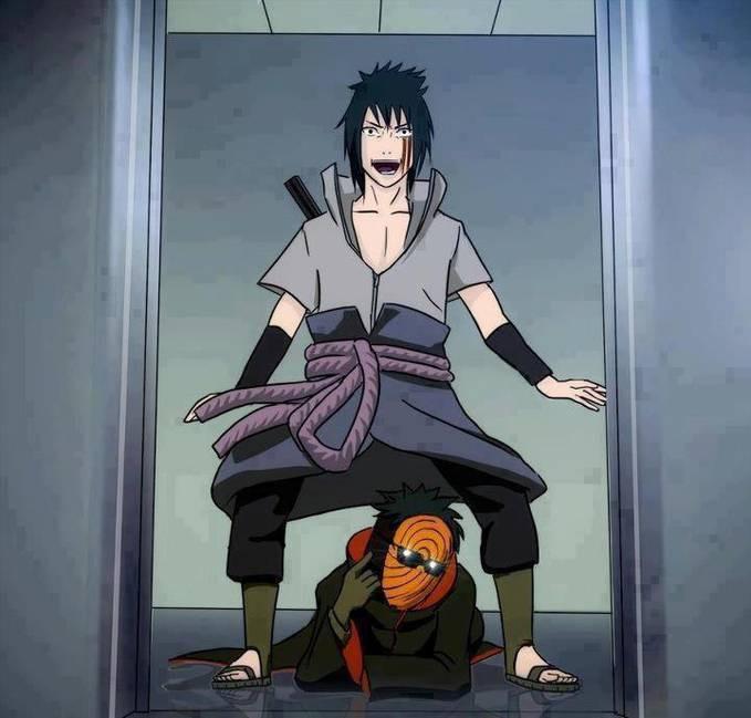 Sasuke And Tobi sedang, asik GAMNAM STYLE Para pengemar berat Naruto, Saya harap, semoga kalian dirumah melakukan Senam GAMNAM STYLE yea OK :)