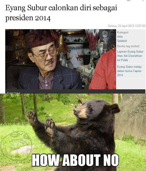 Eyang Subur Calonkan Presiden 2014 Apakah Kalian Setuju Setuju wow Tidak Setuju Komentar