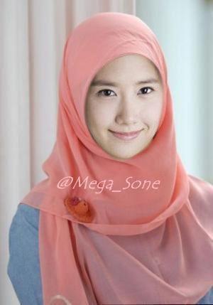 Yoona snsd pake jilbab cantik ga?
