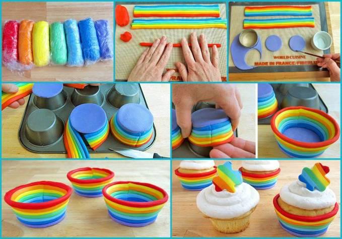 Rainbow Cupcake :* Bagus yah, yang bilang bgus WOW :) Ada tutorial ny, mau coba?? Yang mau coba comment yah.. ;)