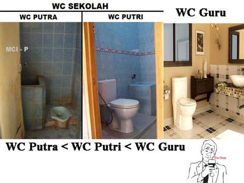 perbedaan wc putra,putri,dan guru