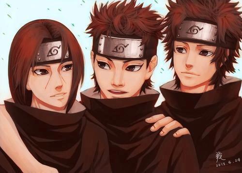 Itachi,Shisui,&Kagami Uchiha orang-orang yang bekerja pada Konoha