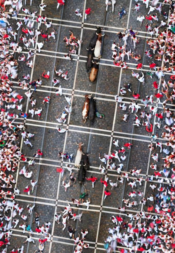 Aerial View : Bull Race
