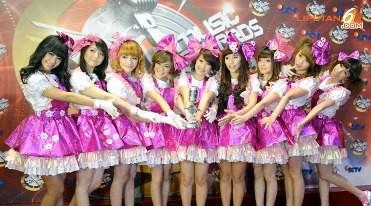 chibi sctv music awards the WINNERS CHERRYBELLE TWIBI dukung CHERRYBELLE
