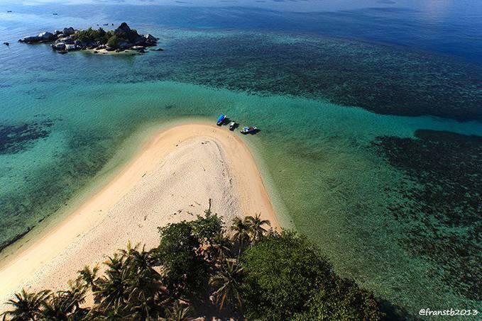 taken from the window of a lighthouse,,island Lengkuas Belitung,,