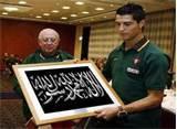 inilah KALIGRAFI karya C.Ronaldo 7,,,yang katanya mau masuk islam berapa wow untk pemaIn legendaris ini,:D