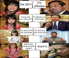"Afika vs SBY ""BBM Naik"" .. ngakak haha"