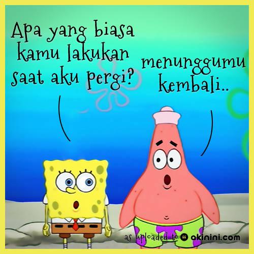Persahabat spongebob dan patrick..patut ditiruu..!!!!