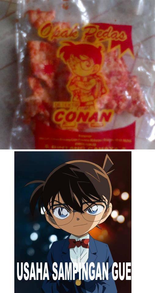 Gak Laku jadi detektif. Conan Jualan Opak pedas ya.. -=WOWnya jgn lupa ya=-