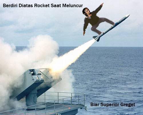 MAD DOG ikut prg dengan naik roket BIAR GREGET