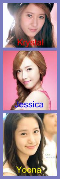 Menurut kalian, Krystal f(x) lebih mirip sama kakaknya Jessica SNSD atau lebih mirip sama Yoona SNSD ?