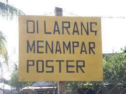 Dilarang Menampar poster!!! :D