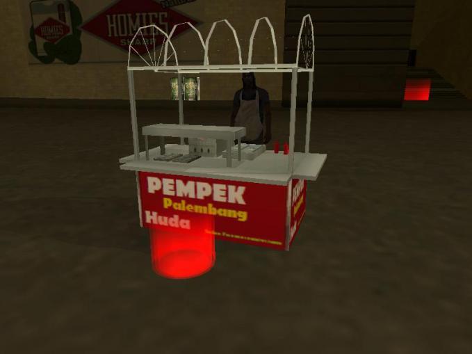 Bagi Anda yang suka Mod GTA San Andreas versi Indonesia Penjual Hot Dog berubah jadi, Pempek Palembang BILANG WOW DONG!!!
