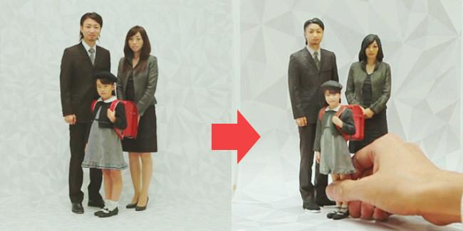 Tren baru Jepang, mengggantikan foto keluarga