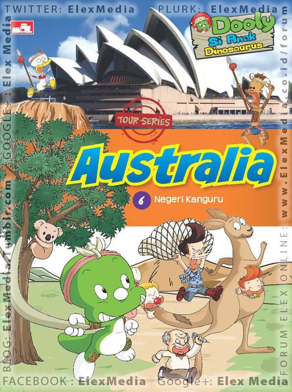 Pencarian Dooly Dinosaurus akan paman Go Gil Dong yg tersesat kini tiba di Australia, negeri kangguru! DOOLY WORLD CULTURE 6: Australia http://ow.ly/lbOGf Harga: Rp. 80.000