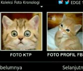 Realita yg ad... perbedaan signifikan antara fto KTP dgn fto profil fb!! wkwkk...