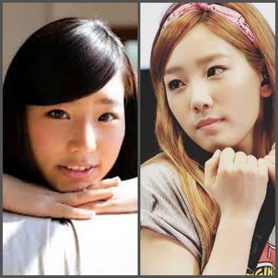 Haruka JKT48 dan Taeyeon SNSD Mirip gak ? Wownya dong !!