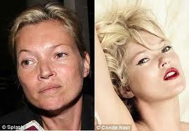 ini tampang artis hollywood tanpa make up.