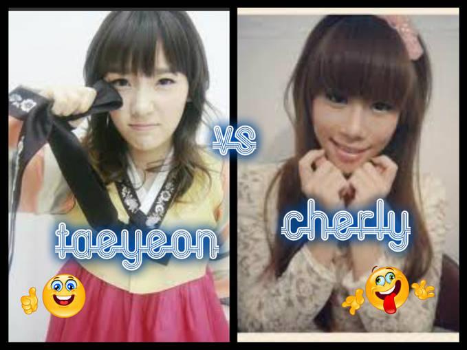 milih siapa taeyeon snsd or cherly chibi kalau aku sih taeyeon snsd :)
