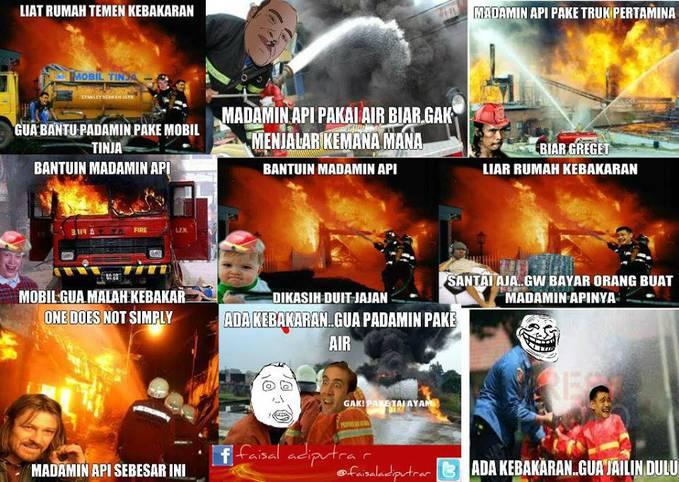 Meme Komik Versi Kebakaran,Ngakak :D