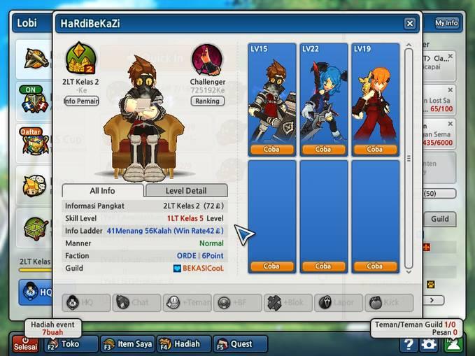 Di Jual D2 HerPer3 GerPer19 Rank Guild 297 Di Jual Cepat 50.000
