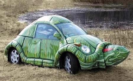 Wow mobil GOKIL & UNIK Mobil berbentuk kura-kura aneh-ya....???