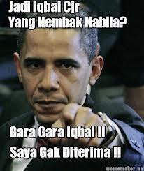 Untuk Iqbal CJR DI LARANG nembak Nabilah JKT 48..