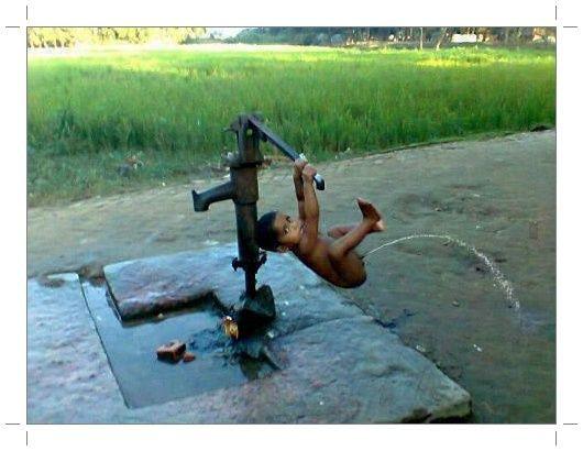pompa air semi otomatis :D