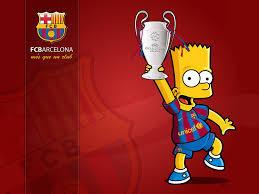 Bart Simpson aja dukung Barca kalo lo???