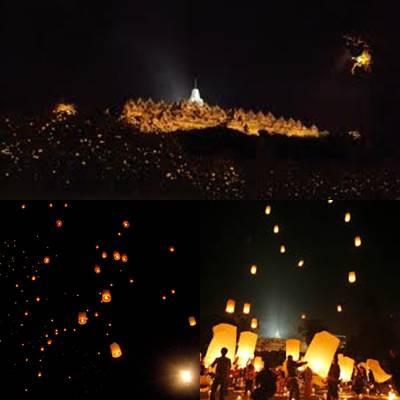 Keindahan Magelang :) Harus bangga jadi orang Magelang dengan kebudayaannya *Pelepasan 1000 lampion di Candi Borobudur, mungkin besok malam