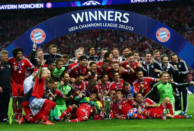 19 fakta menarik usai Munich menjadi juar Liga Champions Eropa 2012/2013 Bayern Munich sukses merebut gelar Liga Champions 2012/2013 usai mengalahkan Borussia Dortmund 2-1 di final yang berlangsung di Wembley, Sabtu 25 Mei 2013 waktu setempat
