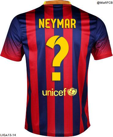 nomer berapa neymar di barca?