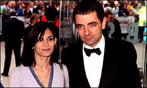 rotwan atkinson (mr bean) bersama istrinya didunia nyata 1 wow= 1 pahala