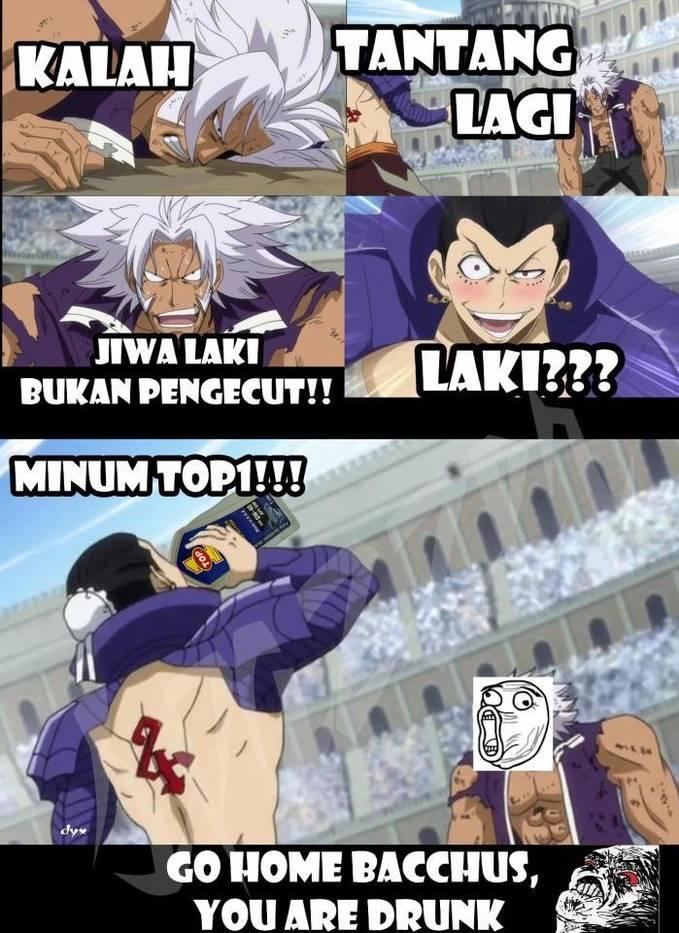 Udah Berlebihan sampai drunk...... Anime : Fairy Tail