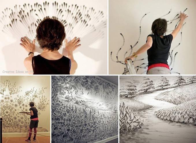 Как разрисовать стены своими руками 23