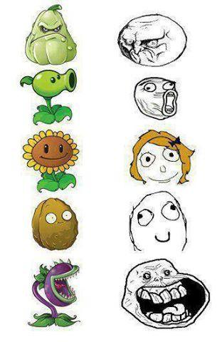 Jadi Begini Wajah Meme Plants VS Zombie :D Jangan lupa WOWO nya ya!!