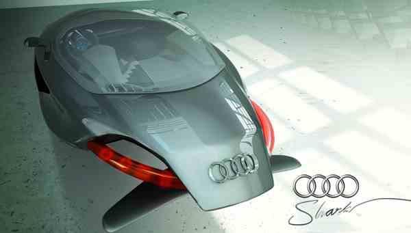 Audi Shark ... ini jalannya melayang,gak pake ban :3
