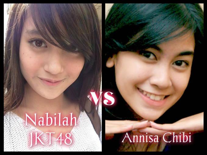 Kalian pilih yang mana Nabilah Joifull kawaii try to be the best (JKT48) atau Annisa Cherry belle (Chibi) Me :Nabilah JKT48