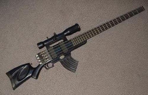Sniper Gun guitar! ada yang mau sobat pulskers? WOW keren. :)