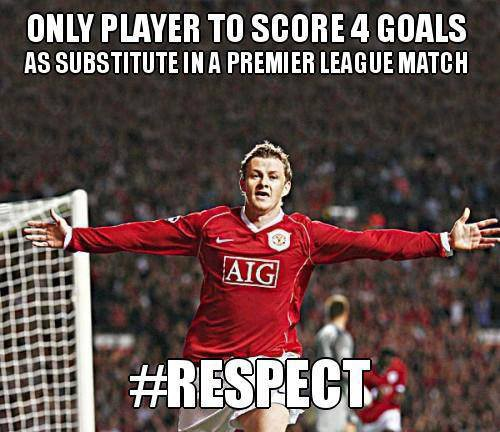 only player to score 4 gouls as subtitute in a premier league match