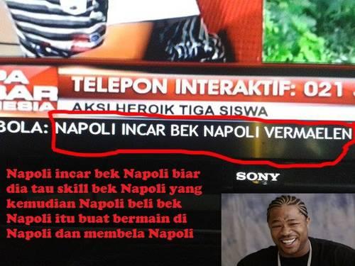 Napoli Incar Bek Napoli ? *Ngakak
