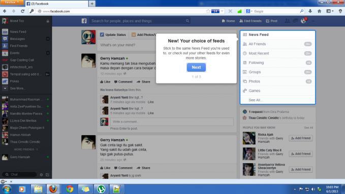 Inilah tampilan Facebook terbaru saat ini...